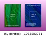 cover templates with volumetric ... | Shutterstock .eps vector #1038603781