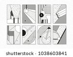 black and white trend neo... | Shutterstock .eps vector #1038603841