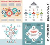 business infographic templates... | Shutterstock .eps vector #1038604375