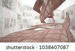 empty smooth abstract room... | Shutterstock . vector #1038607087