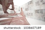 empty smooth abstract room...   Shutterstock . vector #1038607189