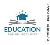 book and graduation icon vector....   Shutterstock .eps vector #1038608224
