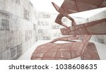 empty smooth abstract room...   Shutterstock . vector #1038608635