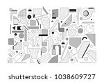 black and white trend neo... | Shutterstock .eps vector #1038609727