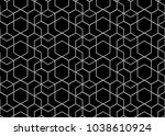 abstract geometric pattern with ... | Shutterstock . vector #1038610924