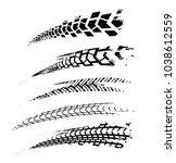 motorcycle tire tracks vector... | Shutterstock .eps vector #1038612559
