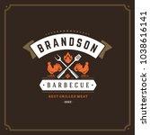 grill restaurant logo vector...   Shutterstock .eps vector #1038616141