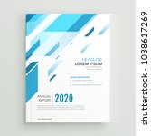 modern business brochure... | Shutterstock .eps vector #1038617269