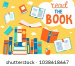 close and open books in... | Shutterstock .eps vector #1038618667