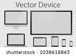 realistic computer  laptop ... | Shutterstock .eps vector #1038618865