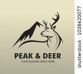 peak and deer logo | Shutterstock .eps vector #1038620077
