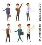 real estate agents selling... | Shutterstock .eps vector #1038623119