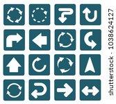 arrow icon set vector design   Shutterstock .eps vector #1038624127