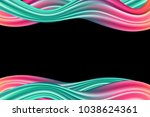 wavy abstraction in pink and... | Shutterstock .eps vector #1038624361