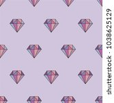 geometric vector seamless... | Shutterstock .eps vector #1038625129
