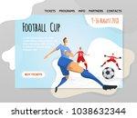 soccer football players in... | Shutterstock .eps vector #1038632344