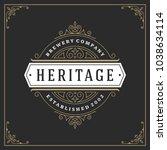 ornament logo design template... | Shutterstock .eps vector #1038634114