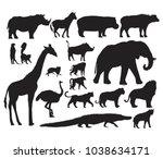 animals illustration art set | Shutterstock . vector #1038634171