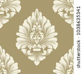 vector damask seamless pattern... | Shutterstock .eps vector #1038635341