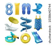 vector set of equipment and... | Shutterstock .eps vector #1038640744