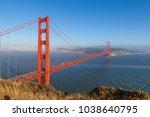 famous san francisco golden... | Shutterstock . vector #1038640795