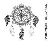 vector illustration with tribal ... | Shutterstock .eps vector #1038644839