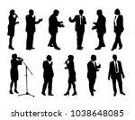 vector set of orator silhouettes | Shutterstock .eps vector #1038648085