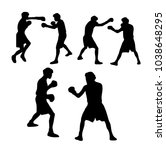 boxers vector silhouettes | Shutterstock .eps vector #1038648295
