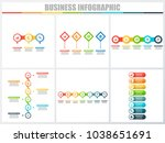 abstract infographics number... | Shutterstock .eps vector #1038651691