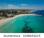 aerial image of cottesloe beach ... | Shutterstock . vector #1038652615