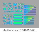 pixel art bright icons. vector...