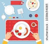 top view illustration of... | Shutterstock .eps vector #1038654085