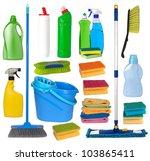 janitorial equipment | Shutterstock . vector #103865411