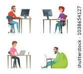 professional programmers at... | Shutterstock .eps vector #1038654127