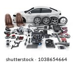car body disassembled   and... | Shutterstock . vector #1038654664