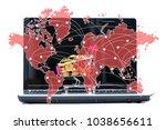 shopping cart or supermarket...   Shutterstock . vector #1038656611