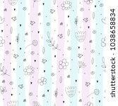 cute hand drawn seamless...   Shutterstock .eps vector #1038658834