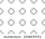 seamless geometric ornamental... | Shutterstock .eps vector #1038659551
