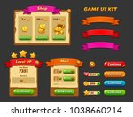 game ui kit. complete menu of... | Shutterstock .eps vector #1038660214