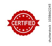 certified icon. approved... | Shutterstock .eps vector #1038662245