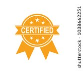certified icon. approved... | Shutterstock .eps vector #1038662251