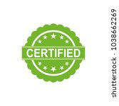 certified icon. approved... | Shutterstock .eps vector #1038662269