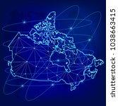 global logistics network... | Shutterstock .eps vector #1038663415