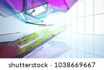 abstract white and colored... | Shutterstock . vector #1038669667