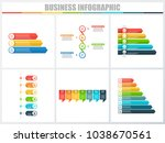 abstract infographics number... | Shutterstock .eps vector #1038670561