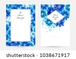 romantic background with blue... | Shutterstock .eps vector #1038671917