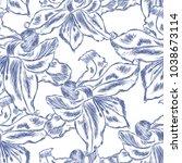 beautiful  seamless pattern... | Shutterstock .eps vector #1038673114