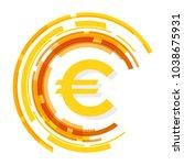euro icon. money. stock vector...