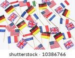 flag sandwich picks on white...   Shutterstock . vector #10386766