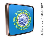 3d rendering of a south dakota... | Shutterstock . vector #1038678019